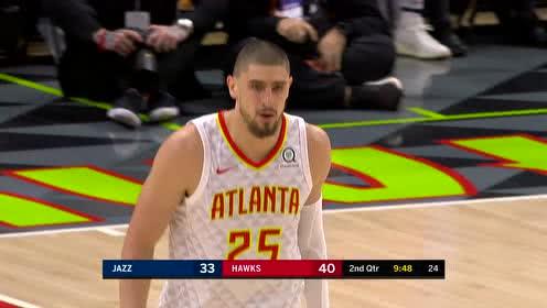2019年03月22日NBA常规赛 爵士VS老鹰 全场录像回放视频