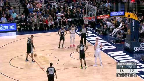 2019年04月17日NBA季后赛 马刺VS掘金 全场录像回放视频