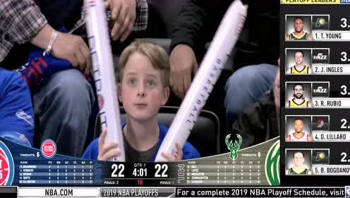 2019年04月21日NBA季后赛 雄鹿VS活塞 全场录像回放视频
