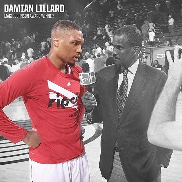 利拉德4_利拉德:非常感谢职业篮球作家协会的认可