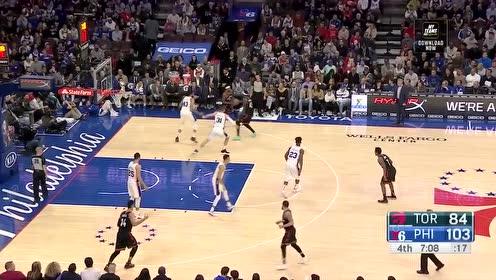 [球星]西蒙斯vs猛龙集锦 26分12篮板8助攻飞身双手暴扣