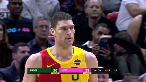 2018年12月23日NBA常规赛 雄鹿VS热火 全场录像回放视频