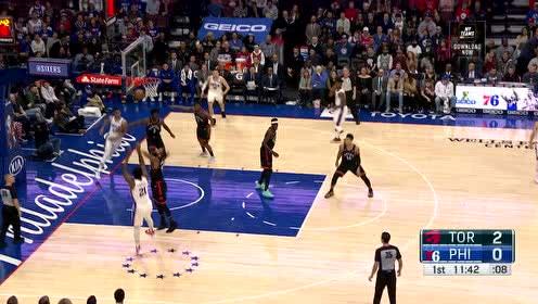 [得分]用智商打球!西蒙斯抢到篮板反篮打进