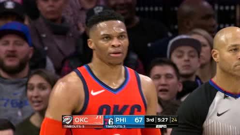 2019年01月20日NBA常规赛 雷霆VS76人 全场录像回放视频