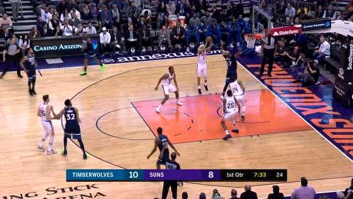 [得分]布克导弹长传本德尔  转换上篮得手直接打停对手