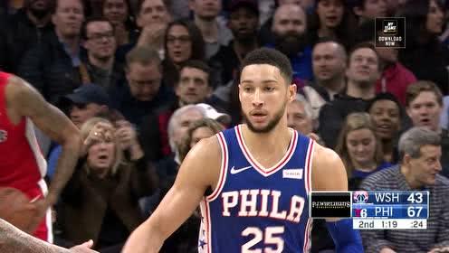 2019年01月09日NBA常规赛 奇才VS76人 全场录像回放视频