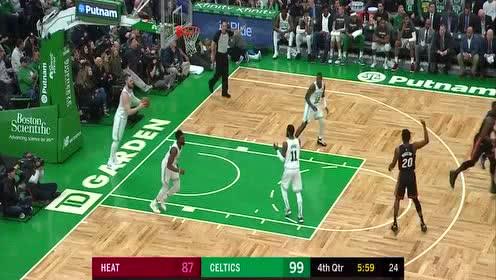 [球星]琼斯vs凯尔特人集锦 18分9篮板欧洲步上篮双臂挂筐