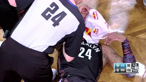 [受伤]杰弗森硬杠冯莱转身面部零距离接触眉骨出血离场