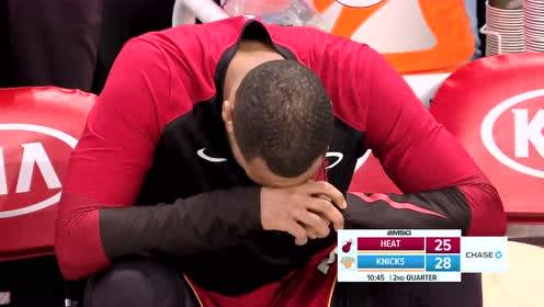 [受伤]又现揪心一幕 小琼斯运球不慎崴伤腿部队友为其祈祷