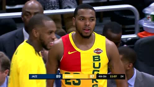 2019年01月08日NBA常规赛 爵士VS雄鹿 全场录像回放视频