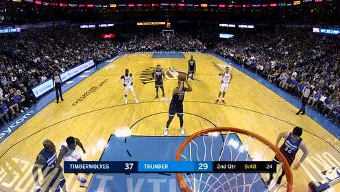 [得分]篮下他就是王者 唐斯硬抢前场篮板2+1打进