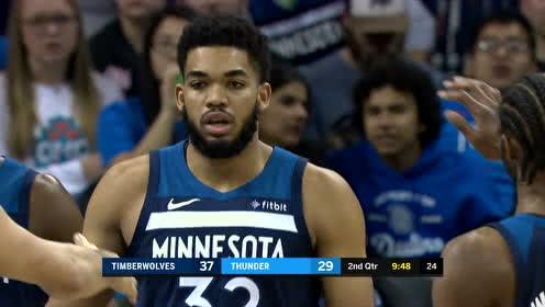 2019年01月09日NBA常规赛 森林狼VS雷霆 全场录像回放视频