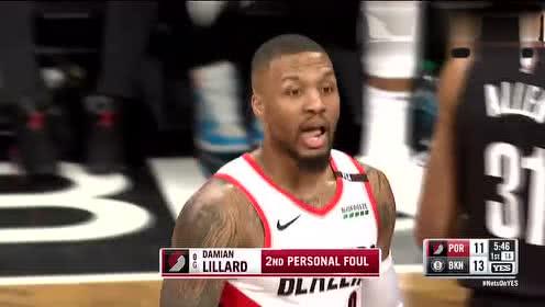 2019年02月22日NBA常规赛 开拓者VS篮网 全场录像回放视频