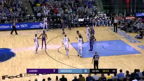 2019年02月26日NBA常规赛 湖人VS灰熊 全场录像回放视频