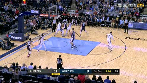2019年02月23日NBA常规赛 快船VS灰熊 全场录像回放视频