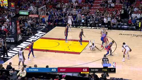2019年03月14日NBA常规赛 活塞VS热火 全场录像回放视频