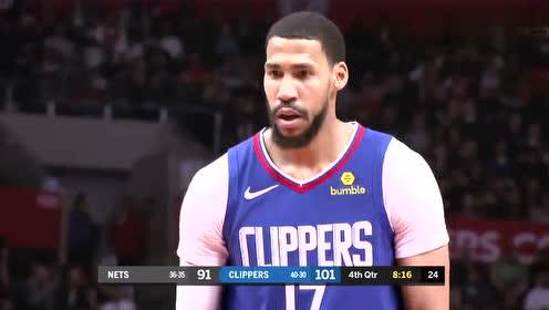 2019年03月18日NBA常规赛 篮网VS快船 全场录像回放视频