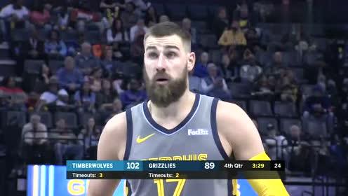 2019年03月24日NBA常规赛 森林狼VS灰熊 全场录像回放视频