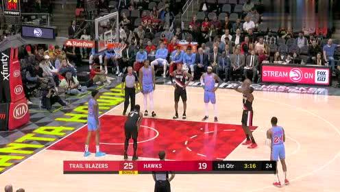 2019年03月30日NBA常规赛 开拓者VS老鹰 全场录像回放视频
