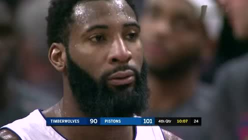 2019年03月07日NBA常规赛 森林狼VS活塞 全场录像回放视频