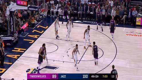 唐斯vs爵士集锦 28分15篮板内线外线予取予求