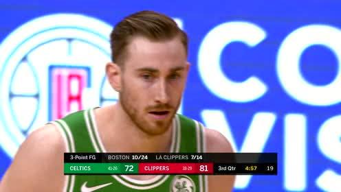2019年03月12日NBA常规赛 凯尔特人VS快船 全场录像回放视频