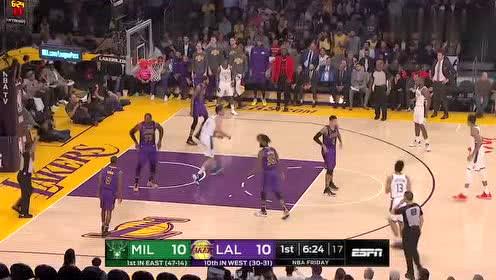 2019年03月02日NBA常规赛 雄鹿VS湖人 全场录像回放视频