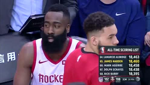 2019年03月31日NBA常规赛 国王VS火箭 全场录像回放视频