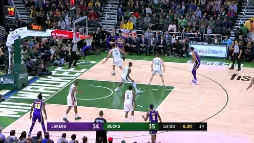 2019年03月20日NBA常规赛 湖人VS雄鹿 全场录像回放视频