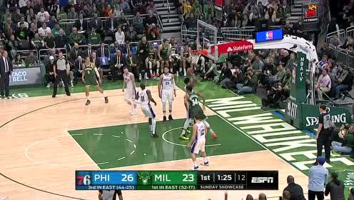 2019年03月18日NBA常规赛 76人VS雄鹿 全场录像回放视频