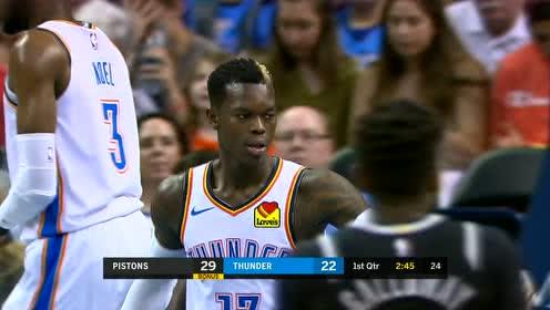 2019年04月06日NBA常规赛 活塞VS雷霆 全场录像回放视频