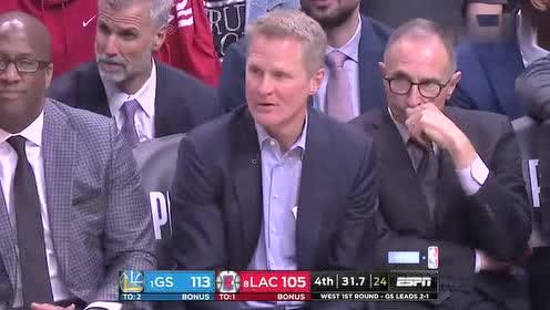 2019年04月22日NBA季后赛 勇士VS快船 全场录像回放视频