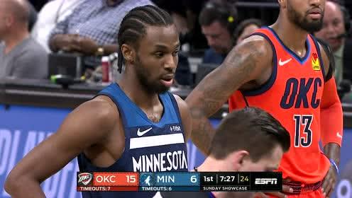 2019年04月08日NBA常规赛 雷霆VS森林狼 全场录像回放视频