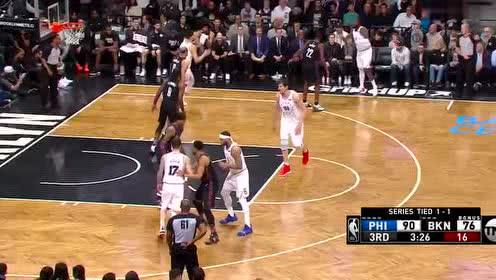 [原声回放]费城vs篮网第3节 雷迪克超远漂移三分空心入网
