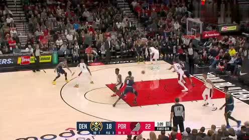 2019年04月08日NBA常规赛 掘金VS开拓者 全场录像回放视频