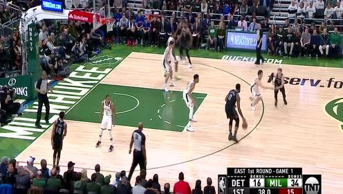 德拉蒙德vs雄鹿集锦 12分12篮板快攻反击强势上篮