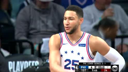 2019年04月21日NBA季后赛 76人VS篮网 全场录像回放视频