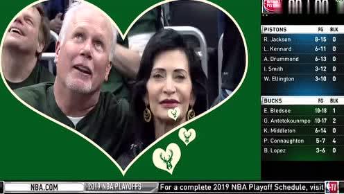 2019年04月18日NBA季后赛 活塞VS雄鹿 全场录像回放视频