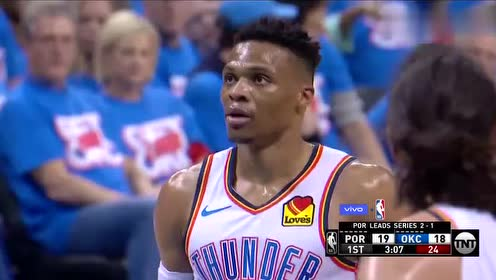 2019年04月22日NBA季后赛 开拓者VS雷霆 全场录像回放视频