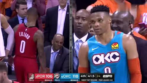 2019年04月20日NBA季后赛 开拓者VS雷霆 全场录像回放视频