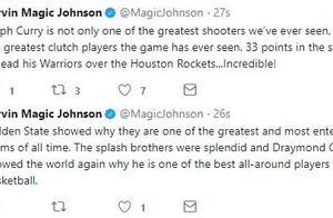 魔术师连更推特:库里是最伟大的关键球员之一
