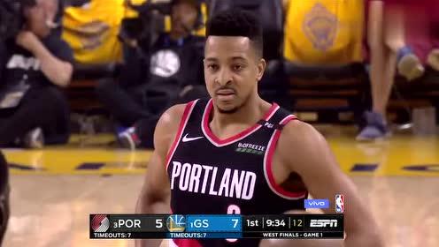 2019年NBA西部决赛G1第一场 勇士VS开拓者 全场录像回放视频