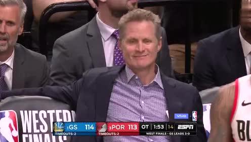 2019年NBA西部决赛G4第四场 勇士VS开拓者 全场录像回放视频