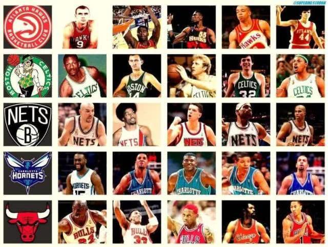 五棵松体育馆NBA各队队史最佳前五位!现役有四