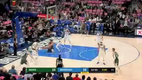 2019年10月12日NBA季前赛 雄鹿VS独行侠 全场录像回放视频