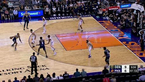 2019年10月15日NBA季前赛 掘金VS太阳 全场录像回放视频