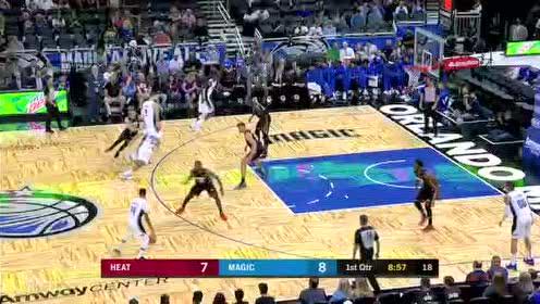 2019年10月18日NBA季前赛 热火VS魔术 全场录像回放视频