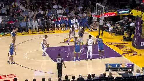 [原声回放]NBA季前赛:勇士vs湖人 第4节
