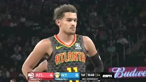 2019年10月17日NBA季前赛 老鹰VS尼克斯 全场录像回放视频