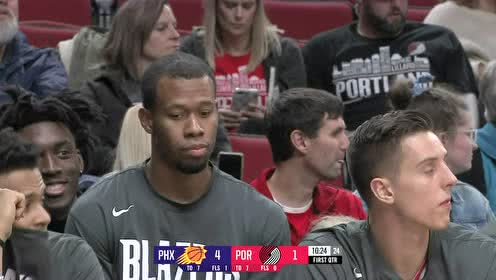 2019年10月13日NBA季前赛 太阳VS开拓者 全场录像回放视频